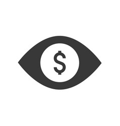 Open eye and dollar visiongreedy sign or chance vector