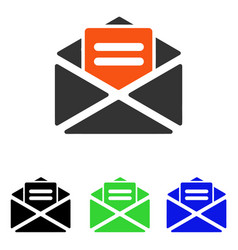 Open mail flat icon vector