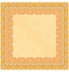 Orange abstract design square frame vector