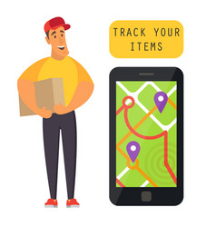 order tracking delivery vector image