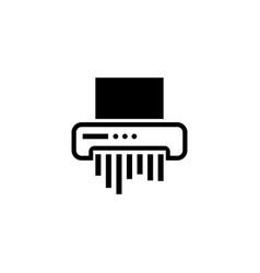 paper shredder flat icon vector image