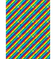 pattern with letters and numbers vector image