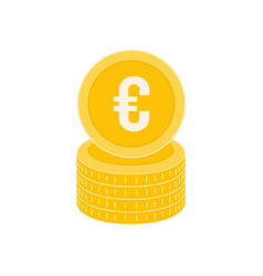 realistic coin icon design template gold coin vector image