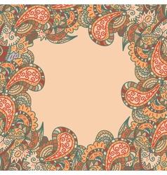 retro decorative original frame vector image