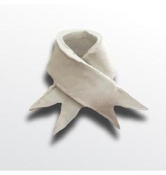 Ribbon white vector image