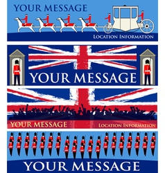Royal jubilee banners vector