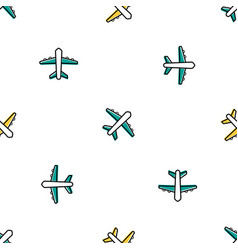 Seamless with colored planes vector