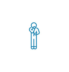 Self-doubt linear icon concept self-doubt line vector