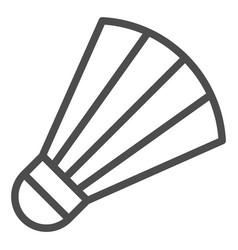 Shuttlecock line icon badminton vector