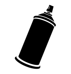 Side view silhouette aerosol spray bottle can icon vector