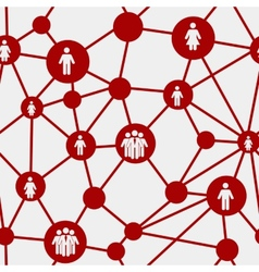 Social media concept seamless pattern vector image
