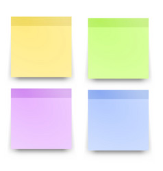 Sticky reminder notes realistic colored papers vector