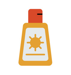Sunscreen or sunblock icon image vector
