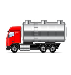 Tank truck isolated on white vector
