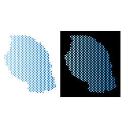 Tanzania map hex tile scheme vector