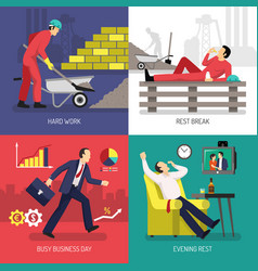 tired worker design concept vector image