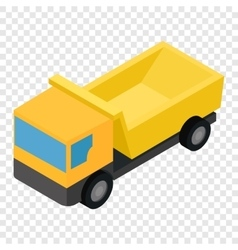 Truck isometric 3d icon vector