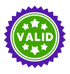 valid stamp flat icon vector image