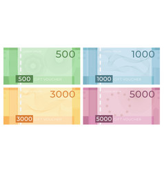 voucher banknote with guilloche discount vector image