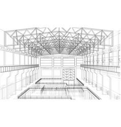 Warehouse sketch vector
