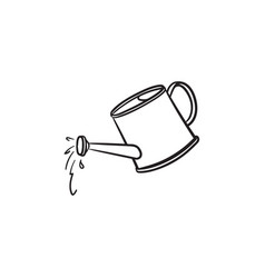 watering can hand drawn sketch icon vector image
