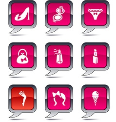 Women balloon icons vector image