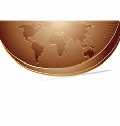 world background with map vector image vector image