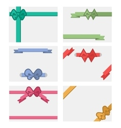 Bow Banners Set vector image vector image