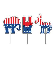 Elephant and donkey Symbols of Democrats and vector image