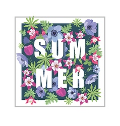 Floral Summer Greeting Card Design vector image