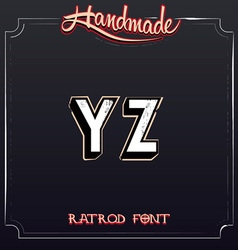 Retro Vintage Label Alphabet vector image vector image