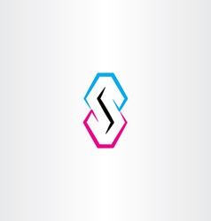 s letter logo symbol element design logotype vector image vector image
