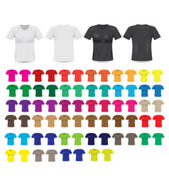 big t-shirt templates collection vector image