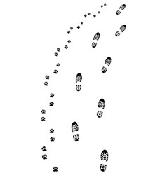 footprints turn right vector image vector image