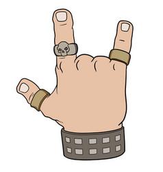 hand in rock gesture vector image vector image