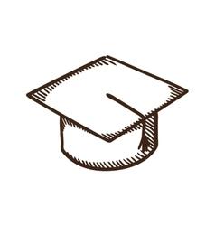 Graduation cap education symbol vector image