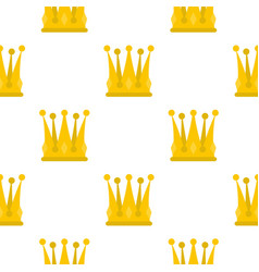 kingly crown pattern flat vector image