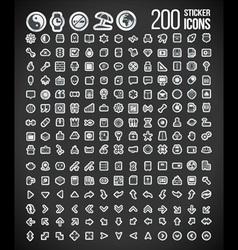 200 sticker icons set 2 vector