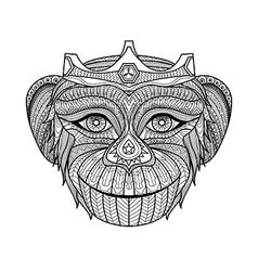 Monkey coloring book vector