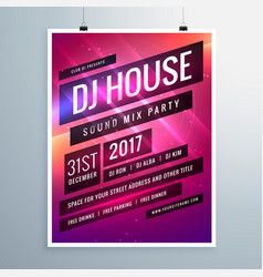 Music sound party event flyer template in vector