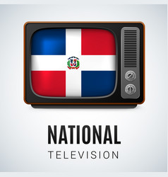national television vector image vector image