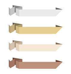 paper origami ribbons neutral colors vector vector image vector image