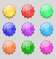 Recycle bin sign icon Symbol Symbols on nine wavy vector image vector image