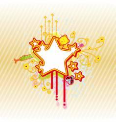 spring star frame vector image vector image