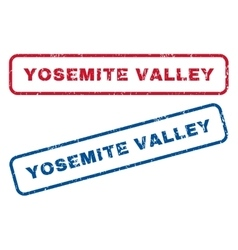 Yosemite valley rubber stamps vector