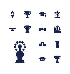 13 ceremony icons vector