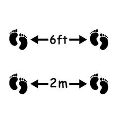 1349 social distancing feet 6ft 2m vector