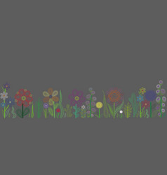 abstract floral design on a grey background vector image