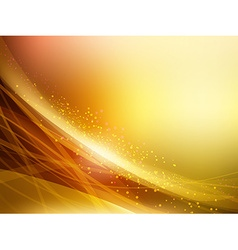 Abstract Golden Waves Background vector image