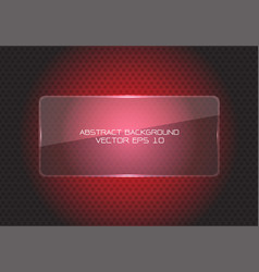 Abstract red glass banner circle mesh modern vector